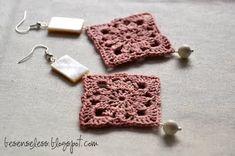 Diy Crochet Jewelry, Crochet Shoes, Crochet Accessories, Crochet Clothes, Diy Jewelry, Tatting Jewelry, Thread Jewellery, Textile Jewelry, Thread Crochet