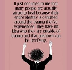 I saw this post on social media and it got me thinking about what it has meant for me, my life, and my healing when my childhood trauma and my identity were challenged to be viewed as individual of each other. #Childhoodabuse #Healing #Traumarecovery #Posttraumaticstressdisorder #PTSD #Identity #Trauma #CSASurvivor #Traumaawareness #Fear #Acceptance #Awareness #recovery #MentalHealth #MentalIllness #Letstalk #Mystory #Metoo Trauma Quotes, Abuse Quotes, Ptsd Awareness, Level Of Awareness, Cognitive Distortions, Healing Words, Coping Skills, Quote Posters, Words Quotes
