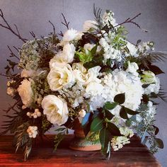 Love this natural white and green! Floral by Jackson Durham #jacksondurham