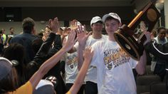 Celebrating teamwork and confidence: UC Irvine campus cheers men's volleyball squad on second consecutive NCAA title.