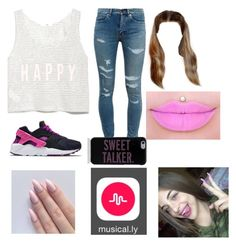"""Making a Musical.ly with Baby Ariel"" by cayfashion ❤ liked on Polyvore featuring MANGO, Yves Saint Laurent, NIKE and Kate Spade"