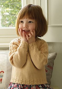 Ravelry: childs cable yoke sweater pattern by Claire Montgomerie