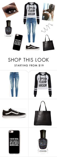 """Winter #5"" by peterkonijn ❤ liked on Polyvore featuring Ted Baker, Vans, SOREL, Casetify, Deborah Lippmann and Stéfère"