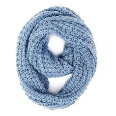 Paula Bianco Chunky Infinity Scarf in Faded Denim ($48) ❤ liked on Polyvore featuring accessories, scarves, faded denim, tube scarf, chunky infinity scarf, infinity scarf, circle scarf and tube scarves