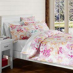 Island Floral Duvet Cover + Sham, Pink Multi so excited! Teen Furniture, Furniture Decor, Beige Bed Linen, Bed Linen Design, Teen Bedding, H & M Home, Bedding Sets Online, Beach Cottage Decor, Cottage Ideas
