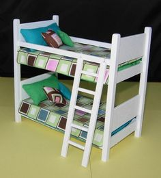 Dollhouse Miniature Contemporary Bunk Bed with by susanaklein