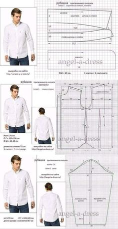 men's shirt pattern with sleeve variations free pattern diagramRead more about mens shirts♥ Deniz ♥Tap the link to check out great cat products we have for your little feline friPattern Making Fundamentals: Dart manipulation and pivot points (VIDEO)Ch Mens Sewing Patterns, Sewing Men, Sewing Clothes, Clothing Patterns, Dress Patterns, Diy Clothes, Shirt Sewing Patterns, Pattern Sewing, Sewing Coat