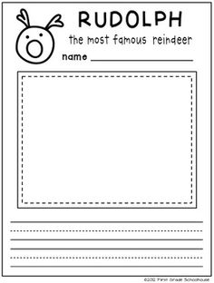 Printable included in CHRISTMAS WRITING for KINDERS by First Grade Schoolhouse. Kindergarten. $ Packet of fun writing activities for Christmas and the holiday season.    http://firstgradeschoolhouse.blogspot.com