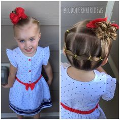 Today for church, we did wrap-around ponies up to a high side messy bun! {I'm loving messy buns lately; they're fun, cute, and girly!} #toddlerhair #toddlerhairideas #toddlerhairstyles #cutetoddlerhair #cutegirlhair #toddlerhairstyleideas #hairideas #toddlerstyle #easyhairstyle #easyhairstyles #girlhair #littlegirlhair #littlegirlhairstyle #toddler #buns #braids #ponytail #pigtails #hairstylesforgirls #hairstyleforgirls #hair #easy #elastics #sideponytail #messybun