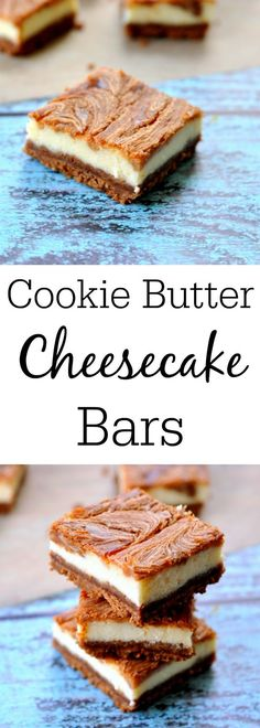 Cookie Butter Cheesecake Bars - An Amazing Cheesecake Bars Recipe! Cookie Butter Cheesecake Bars - An Amazing Cheesecake Bars Recipe! Speculoos Cookie Butter, Biscoff Cookies, Butter Cookies Recipe, Homemade Cookie Butter, Bar Cookies, Cheesecake Bars, Cheesecake Recipes, Cookie Recipes, Biscoff Recipes