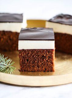 Kostka piernikowa z ptasim mleczkiem My Recipes, Cake Recipes, Dessert Recipes, Polish Cake Recipe, Sweet Cakes, Frosting Recipes, Food Inspiration, Delicious Desserts, Good Food