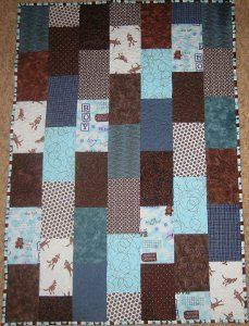 If only all baby quilt patterns could be this easy and adorable! Instead of making the same old squares, you'll be working with a brick pattern that shows off your choice of fabric nicely. Quilters of all skill levels can make this baby quilt for someone special.