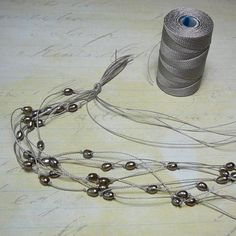Treasure Rocks Jewelry: Multistring knotted pearl necklace