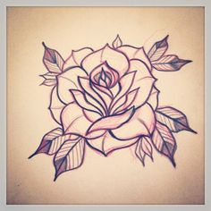 Resultado de imagen para neo traditional rose sketch