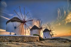 The windmills of #Mykonos #Greece