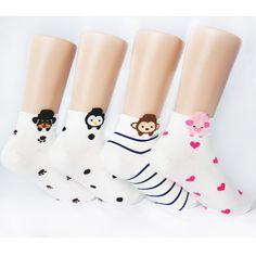 4pairs(4color)=1pack CUTE ANIMAL SOCKS Made in KOREA women woman girl big kids #MADEINKOREA #allStyle