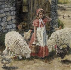 Hannah's Flock by Carla D'aguanno Farm Animals, Animals And Pets, Sheep Farm, Western Art, Animal Paintings, Artist At Work, Great Artists, Pet Birds, Photo Art