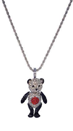 Panda Necklace by Soho Hearts Would match my panda shirt!