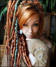 decoration- ribbon  bangs  colored dreads