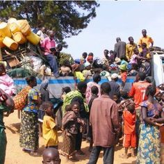 Brothers and Sisters going to the District Assembly in Africa.....they have to all fit in that truck.  I will never complain again.  What a true example of worldwide brotherhood.