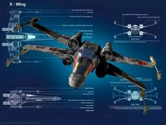X-Wing Fighter cross sections!