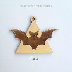 Cute Laser cut Bat Pendant / Halloween props / Halloween / Laser cut wood / Halloween decor / Laser cut jewelry / Wood pendant / Bat decor by DosheEcoDecorCharms on Etsy
