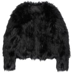 Faux fur jacket ($65) ❤ liked on Polyvore featuring outerwear, jackets, tops, coats, fur, faux fur jackets, fake fur jacket and altuzarra