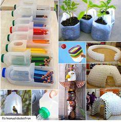 Transforma esas botellas de plástico Reciclaje botellas