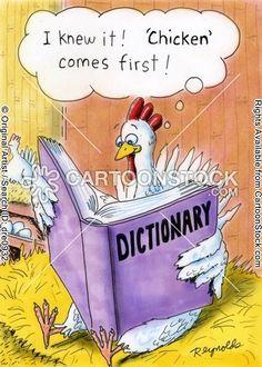 Laughter, the best medicine (Just in case you ever wondered) Cartoon Jokes, Farm Cartoon, Funny Cartoons, Funny Comics, Funny Jokes, Funny Sayings, Chicken Jokes, Farm Humor, Library Humor
