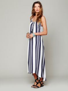 Free People Nautical Stripe Maxi - good relaxed summer dress for the beach but make it shorter