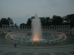 The World War II Memorial honors the 16 million who served in the armed forces of the U.S., the more than 400,000 who died, and all who supported the war effort from home.