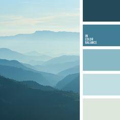 """""""пыльный"""" синий, лазурный, монохромная синяя цветовая палитра, монохромная цветовая палитра, небесный, оттенки синего, пастельный синий, подбор цвета, светло-синий, серебристо-голубой, серо-голубой, темно-синий, холодные оттенки синего."""