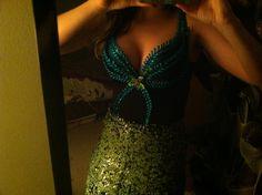 DIY mermaid bra