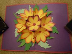 Seven flower pop-up card (could be applied to the 'card box' rage)