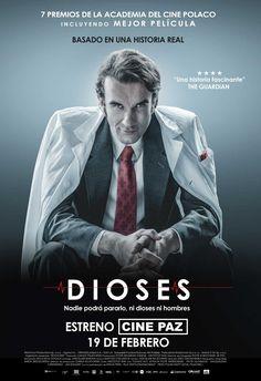 """Campaña de publicidad en quioscos de Madridpara el estreno de la película basada en hechos reales """"Dioses"""", en cines a partir del 19 de febrero."""