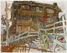 Painting by Alois Cariget, 1902 - 1985 Grayson Perry, David Hockney, Illustration Art, Paintings, Sculpture, Naive, Drawings, Switzerland, Prints