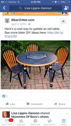 Harley Davidson Table