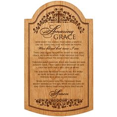 Personalized Amazing Grace How sweet the sound,Cherry wall plaque,Custom Gift for parents, Gift for Mom, Gift for Grandparents, Grace sign