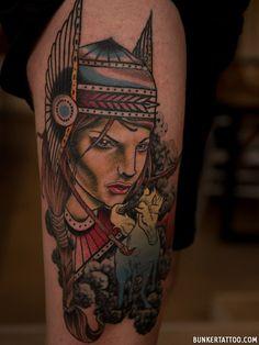 Top 56+ Unique Neo-Traditional Tattoo Ideas Neo Tattoo, Neo Traditional Tattoo, Tattoo Ideas, Portrait, Tattoos, Unique, Top, Tatuajes, Men Portrait