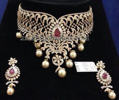Jewellery Designs: Grand Bridal Diamond Choker