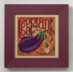 "MH149106 - Eggplant (2009) - Mill Hill - Buttons and Bead Kits - Spring Series Kit Includes: Beads,ceramic button, perforated paper, floss, needles, chart and instructions  Mill Hill frame GBFRM7 sold separately Size: 5"" x 5"""