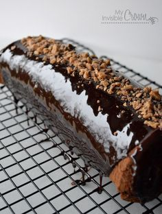 chocolate roulade with cream cheese salted caramel filling - There goes the diet!