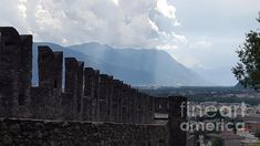 Castello Bellinzona sky by Nubes DesignCH Old Wall, Main Attraction, Still Standing, Mount Everest, Old Things, Castle, Sky, Mountains, World