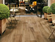 Timber looking porcelain tile for outdoor living space by FAP