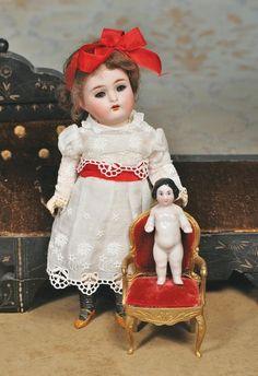Petite German Bisque Doll By Kammer & Reinhardt.
