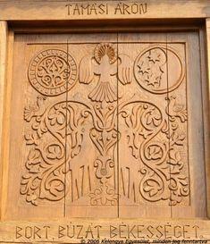 Kelengye Egyesület Honlapja Hungarian Embroidery, Wooden Gates, Christian Art, Wood Carving, Folk Art, Woodworking, Pottery, Symbols, Culture