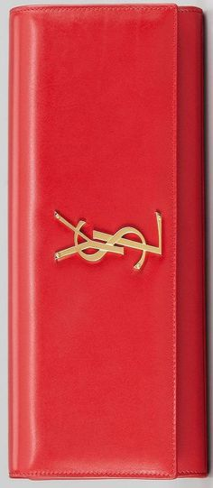 Classic red clutch YSL