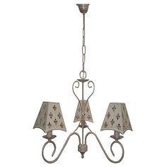 Lámpara de colgar  TRÉBOL MARFIL 3 LUCES Referencia 12382622 - Leroy Merlin