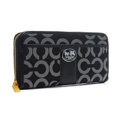 #CoachOutletStore Coach Legacy In Signature Large Black Wallets BVR Shows Your Real Life And You Will Enjoy Your Life!