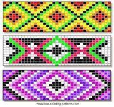 Beaded Patterns i like the purple one! @Tahne Jo Menard menard